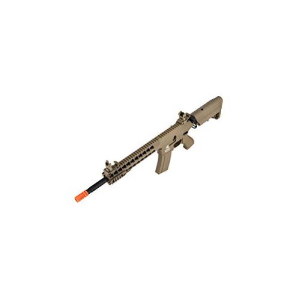 Lancer Tactical Airsoft Rifle 6 Lancer Tactical GEN 2 M4 Custom Body AEG Metal Gear Electric Airsoft Rifle - TAN