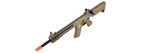 Lancer Tactical  6 Lancer Tactical GEN 2 M4 Custom Body AEG Metal Gear Electric Airsoft Rifle - TAN