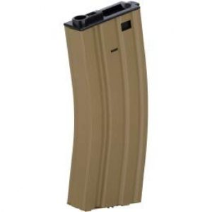 Lancer Tactical Airsoft Gun Magazine 1 Lancer Tactical Metal M4/M16 300 Round Hi-Cap AEG Airsoft Magazine Clip (Tan)