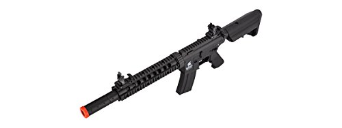 Lancer Tactical  5 Lancer Tactical Low FPS M4 Gen 2 AEG Electric Airsoft Rifle Gun - Black