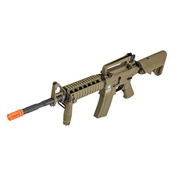Lancer Tactical Airsoft Rifle 4 Lancer Tactical Gen 2 Upgraded RIS LT-04 AEG Metal Gear Electric Airsoft Gun, Dark Earth