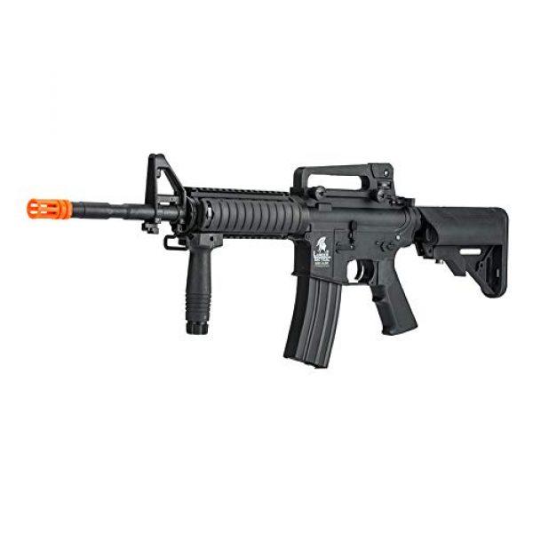 Lancer Tactical Airsoft Rifle 1 LANCER TACTICAL Gen 2 Upgraded RIS LT-04 AEG Metal Gear Electric Airsoft Gun, Black