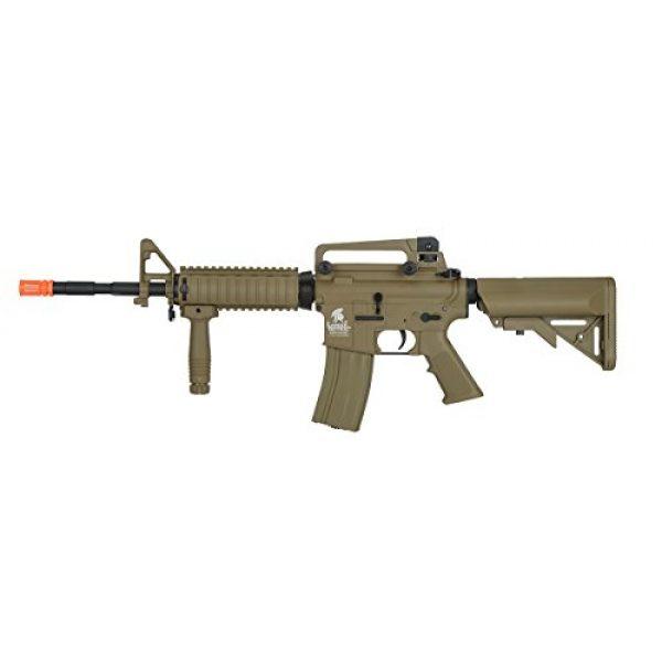 UKARMS Airsoft Rifle 2 UKARMS Lancer Tactical M4A1 Airsoft Gun Rifle RIS SOPMOD AEG Metal Gears Raider w/ 9.6v Battery & Charger (Tan High Velocity)