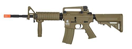 UKARMS  2 UKARMS Lancer Tactical M4A1 Airsoft Gun Rifle RIS SOPMOD AEG Metal Gears Raider w/ 9.6v Battery & Charger (Tan High Velocity)