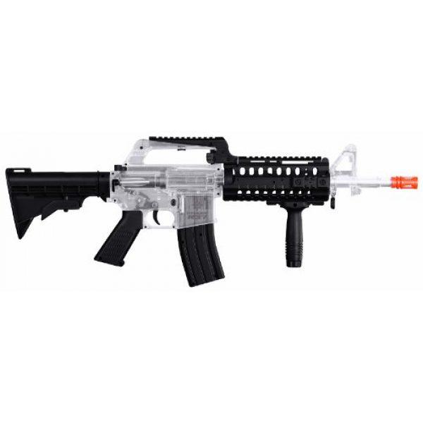 Crosman Airsoft Rifle 1 Crosman 50027 Stinger R37 Spring Powered Tactical Airsoft Rifle, Clear/Black