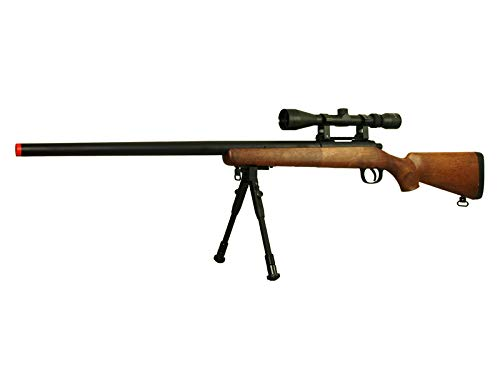 BBTac Airsoft Rifle 2 BBTac Airsoft Sniper Rifle VSR-10 Bolt Action Powerful Spring Airsoft Gun with Hunting Scope and Bipod