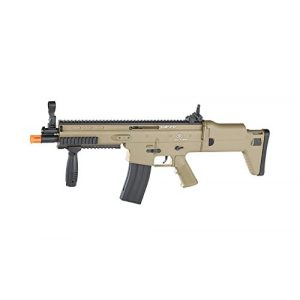 FN Airsoft Rifle 1 FN Scar-L Spring Powered Airsoft Rifle, Tan, 300 FPS