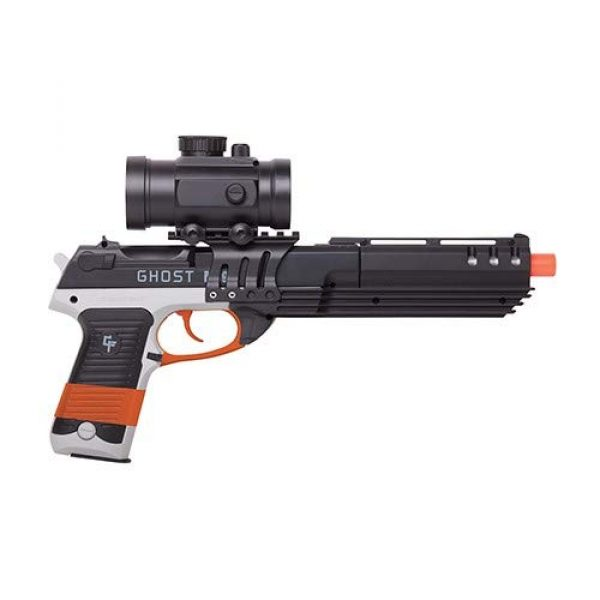 Game Face Airsoft Pistol 1 GameFace GFM39PG-CA Ghost Mayhem Spring-Powered Single-Shot Airsoft Pistol, California Compliant