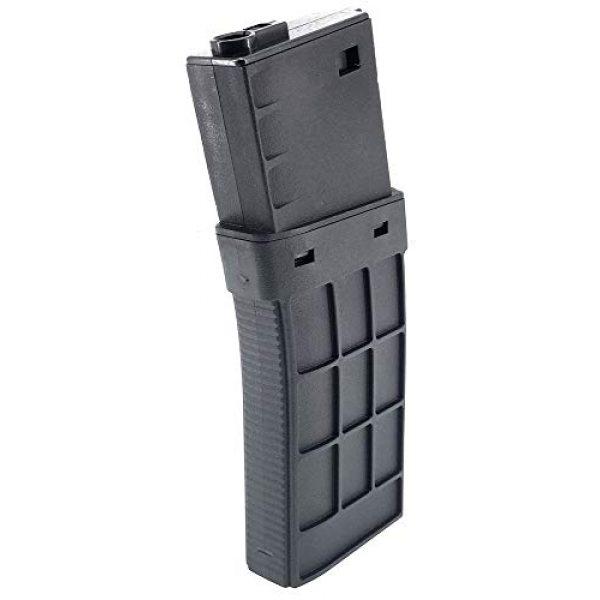 SportPro Airsoft Gun Magazine 1 SportPro CYMA 220 Round Polymer Thermold Waffle Medium Capacity Magazine for AEG M4 M16 Airsoft - Black