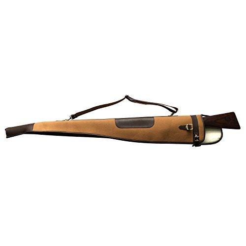 "TOURBON  3 TOURBON Vintage Hunting Gun Carrying Bag Slip Shotgun Case 50"" - Canvas and Leather"