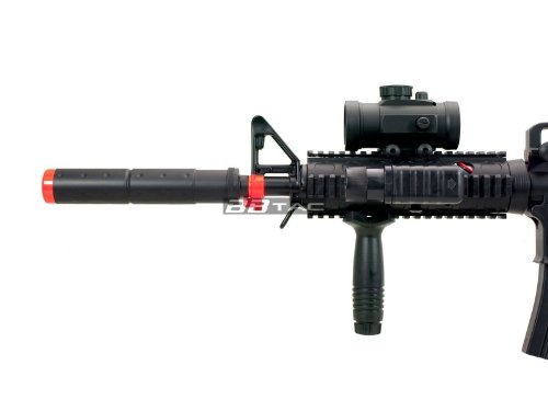 BBTac  4 BBTac M83 Full and Semi Automatic Electric Powered Airsoft Gun Full Tactical Accessories Ready to Play Package