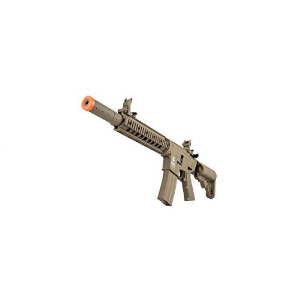 Lancer Tactical Airsoft Rifle 5 Lancer Tactical M4 Gen 2 AEG Electric Airsoft Rifle Gun - Tan