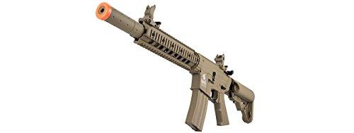 Lancer Tactical  5 Lancer Tactical M4 Gen 2 AEG Electric Airsoft Rifle Gun - Tan