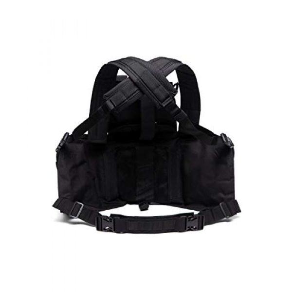MINGWANG Airsoft Tactical Vest 3 MINGWANG Tactical Vest Outdoor Training Chest Rigs,Airsoft Vest Gear Adjustable Combat Vest
