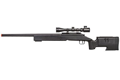 ASG  2 ASG McMillian Sportline M40A3 Bolt Action Spring Sniper Airsoft Rifle (Black)