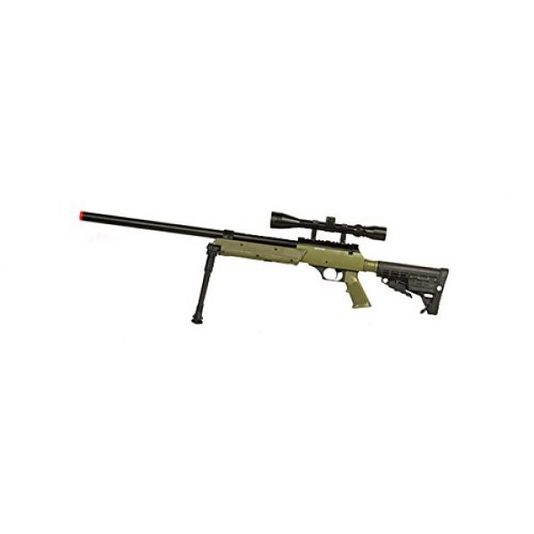 Well Airsoft Rifle 1 Well SPEC-OPS MB13A APS SR-2 Bolt Action Sniper Rifle Airsoft Gun (OD/Scope & Bipod Package)