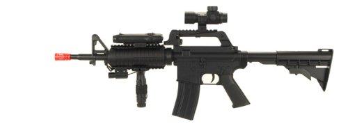 Well  1 M-16 A4 Airsoft Assault Rifle Gun Paintball Pellet M16