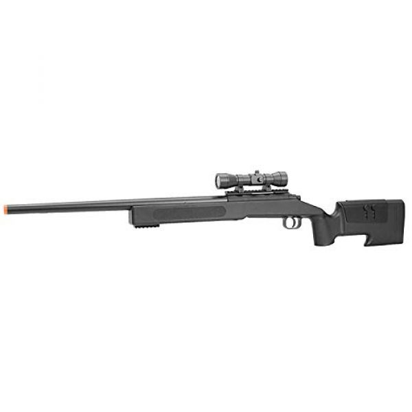 BBTac Airsoft Rifle 1 BBTac Airsoft Sniper Rifle M62 - Bolt Action Powerful Spring Airsoft Gun, Extreme Powerful FPS with .20g 6mm BBS
