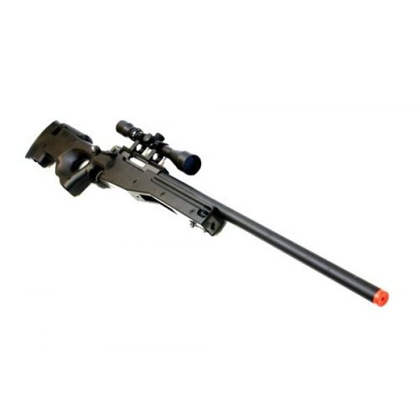 BBTac Airsoft Rifle 3 BBTac Airsoft Sniper Rifle 500 FPS BT-96 Full Metal Bolt Action AWP with 3x Scope Package