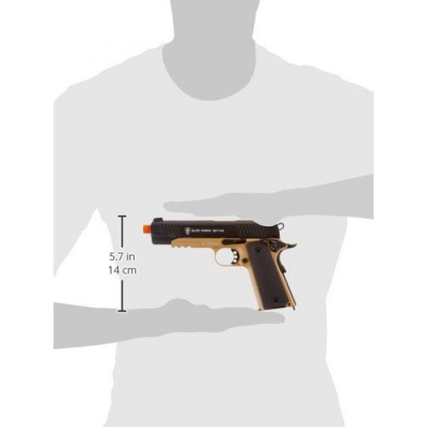 RWS Airsoft Pistol 6 Elite Force 1911 Blowback 6mm BB Pistol Airsoft Gun, 1911 TAC, FDE/Black