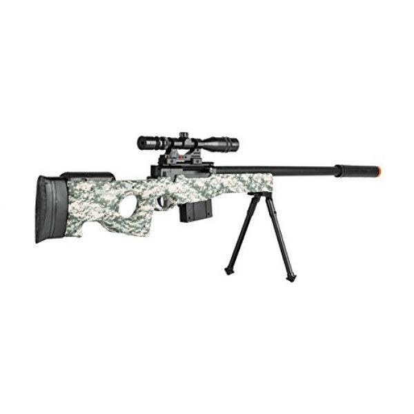 UKARMS Airsoft Rifle 3 300 FPS - L96 Airsoft Gun Sniper Spring Powered Rifle Gun with Scope (Digital Camo)