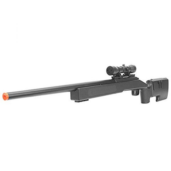 BBTac Airsoft Rifle 3 BBTac Airsoft Sniper Rifle M62 - Bolt Action Powerful Spring Airsoft Gun, Extreme Powerful FPS with .20g 6mm BBS