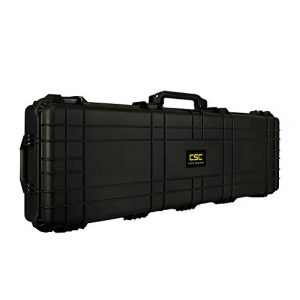 "Common Sense Cases Airsoft Gun Case 1 Common Sense Cases 5010 51"" Rifle/Shotgun Case With DIY Foam - Weather Resistant - Black - Internal Dimensions: 51"" x 14"" x 5"""