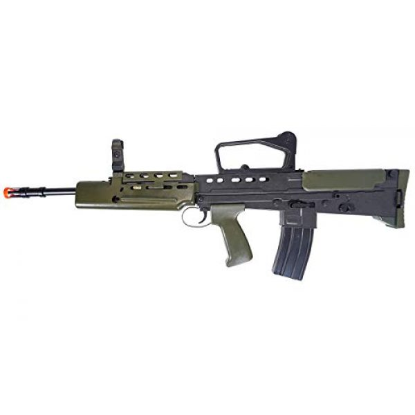 HFC Airsoft Rifle 2 HFC Airsoft Spring Tactical Rifle British Army SA80 Full Size 320FPS Bolt Action with Rail