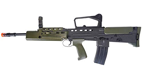 HFC  2 HFC Airsoft Spring Tactical Rifle British Army SA80 Full Size 320FPS Bolt Action with Rail