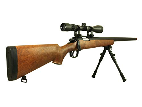 BBTac Airsoft Rifle 3 BBTac Airsoft Sniper Rifle VSR-10 Bolt Action Powerful Spring Airsoft Gun with Hunting Scope and Bipod