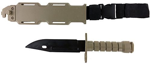 SportPro Airsoft Tool 1 SportPro Rubber Combat Knife M9 Style for Training Airsoft Dark Earth