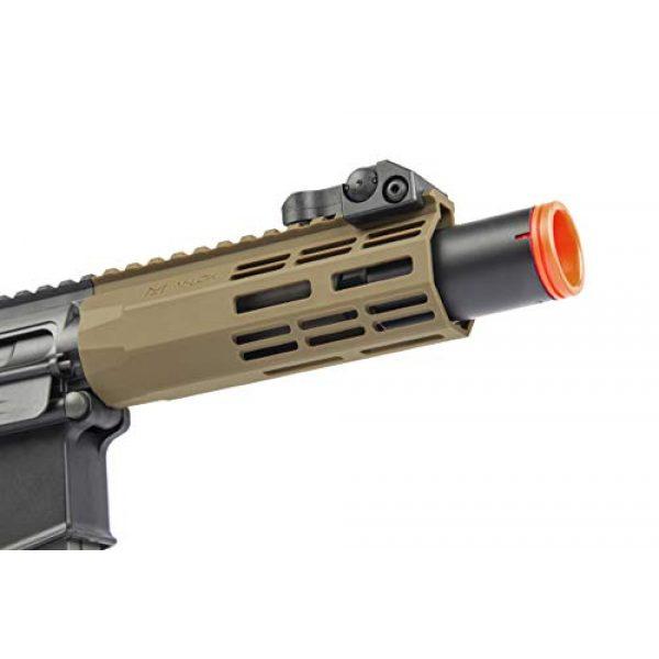 Elite Force Airsoft Rifle 5 Elite Force M4 AEG Automatic 6mm BB Rifle Airsoft Gun, CQC, Black/Tan (2279527)
