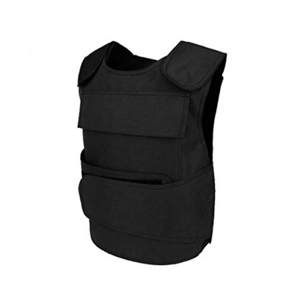BESPORTBLE Airsoft Tactical Vest 1 BESPORTBLE Tactical Paintball Vest Army Airsoft Adjustable Vest Assurance Bullet Supplement Vest for Cosplay Combat War Game