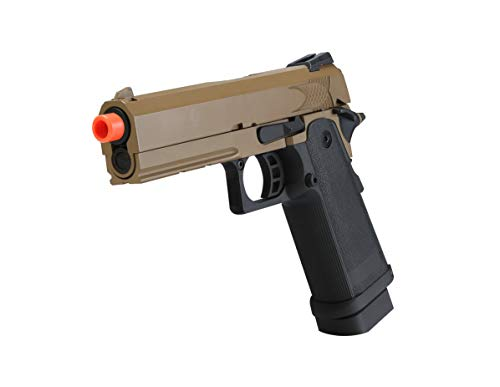 BULLDOG AIRSOFT Airsoft Pistol 5 Airsoft HI-CAPA 4.3 Desert CO2 Pistol with Free Speed Loader BBS and Gun Case [Airsoft Blowback]