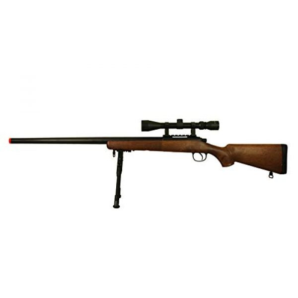 BBTac Airsoft Rifle 4 BBTac Airsoft Sniper Rifle VSR-10 Bolt Action Powerful Spring Airsoft Gun with Hunting Scope and Bipod