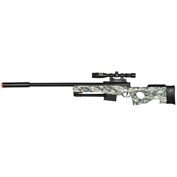 UKARMS Airsoft Rifle 2 300 FPS - L96 Airsoft Gun Sniper Spring Powered Rifle Gun with Scope (Digital Camo)