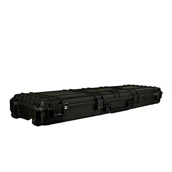 "Common Sense Cases Airsoft Gun Case 2 Common Sense Cases 5010 51"" Rifle/Shotgun Case With DIY Foam - Weather Resistant - Black - Internal Dimensions: 51"" x 14"" x 5"""