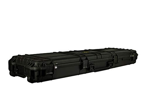 "Common Sense Cases Airsoft Gun Case 2 Common Sense Cases 5010 51"" Rifle/Shotgun Case With DIY Foam - Weather Resistant - Black - Internal Dimensions: 51"" x 14"" x 5"""