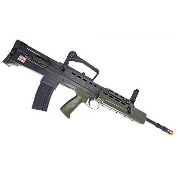 HFC Airsoft Rifle 6 HFC Airsoft Spring Tactical Rifle British Army SA80 Full Size 320FPS Bolt Action with Rail