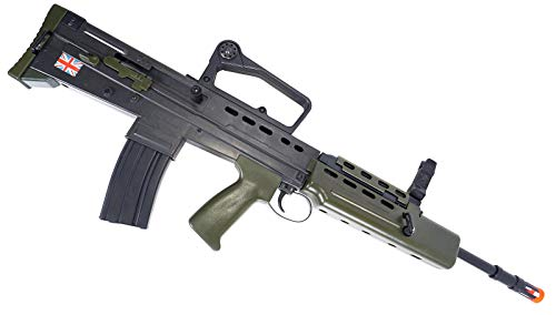 HFC  6 HFC Airsoft Spring Tactical Rifle British Army SA80 Full Size 320FPS Bolt Action with Rail