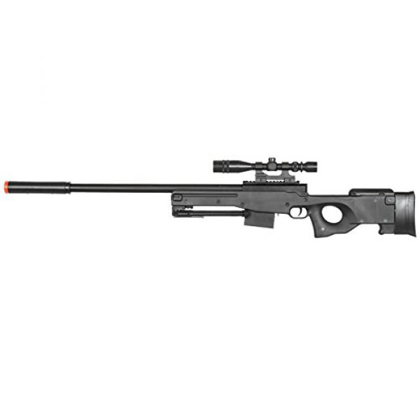 BBTac Airsoft Rifle 4 BBTac Airsoft Sniper Rifle Gun - Powerful Spring Loaded Easy to use, Great for Starter Pack Game Play