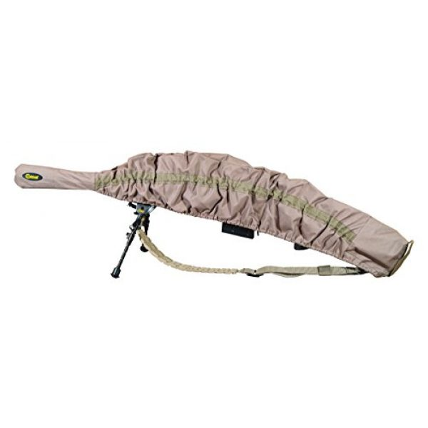 Caldwell Rifle Case 1 Caldwell Allweather Fast Case Gun Cover with FDE Color, PVC Lined Fabric, Water Resistance and Quick Access Design for Outdoor, Range, Shooting and Hunting