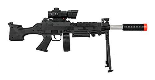 UKARMS  2 UKARMS Tactical LMG Spring Airsoft Rifle Gun FPS 300