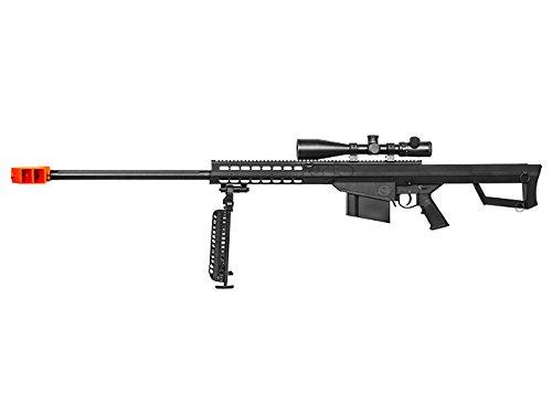 Lancer Tactical  2 Lancer Tactical M82 Polymer Spring Sniper Rifle w/Bipod Airsoft Gun