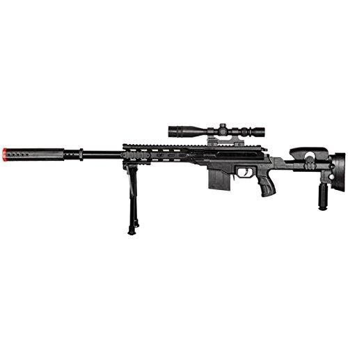 BBTac Airsoft Rifle 2 BBTac Airsoft Sniper Gun Package - Powerful Spring Sniper Rifle