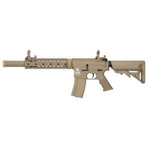 Lancer Tactical Airsoft Rifle 1 Lancer Tactical M4 Gen 2 AEG Electric Airsoft Rifle Gun - Tan