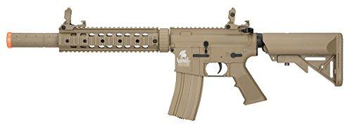 Lancer Tactical  1 Lancer Tactical M4 Gen 2 AEG Electric Airsoft Rifle Gun - Tan