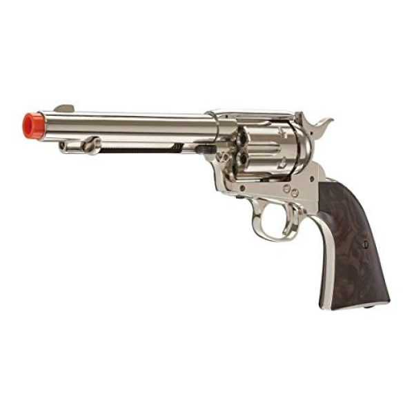 Wearable4U Airsoft Pistol 2 Wearable4U Legends Smoke Wagon Revolver Nickel Airsoft Pistol with 6pack Shells and 5x12 Gram CO2 Tanks Pack of 1000 6mm 0.20g BBS Bundle