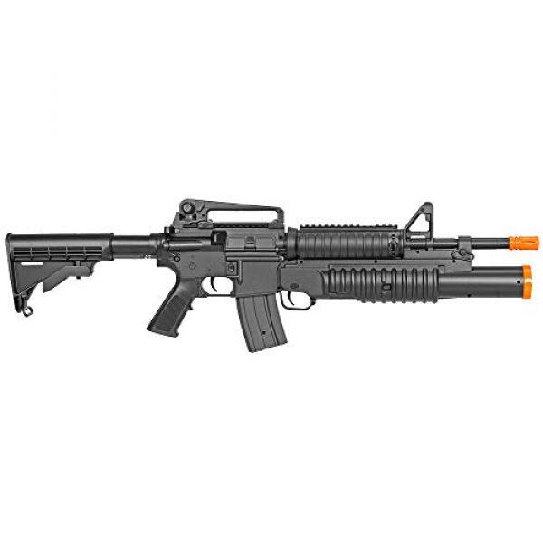 BBTac Airsoft Rifle 2 BBTac Airsoft Gun Electric Rifle Full Auto with Burst 3 Round Launcher, Rail System, Powerful AEG Shoot 6mm BBS