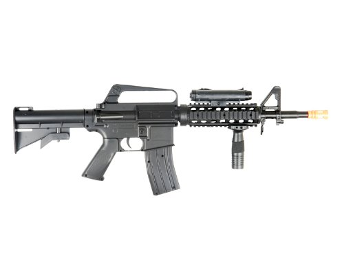 BBTac  2 BBTac M16-A4 Airsoft Gun Spring Rifle Shoots 6mm BBS Pellets with Accessories